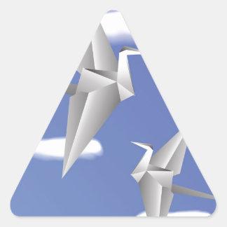 Adesivo Triangular pássaros 78Paper _rasterized