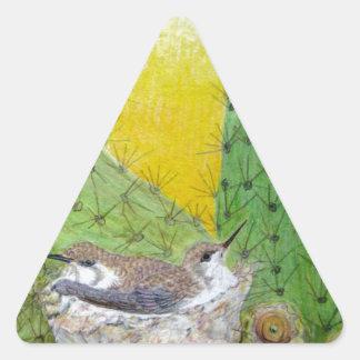 Adesivo Triangular Pássaros no deserto