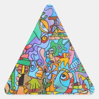 Adesivo Triangular Passeio de The Sun por Lorenzo Traverso