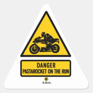 Adesivo Triangular Pastarocket do perigo no funcionamento