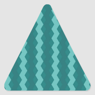 Adesivo Triangular Pattern Blue Stripes - Linhas zigzag