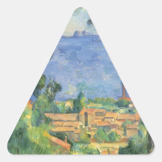 Adesivo Triangular Paul Cezanne - ideia do d'If de L'Estaque e de