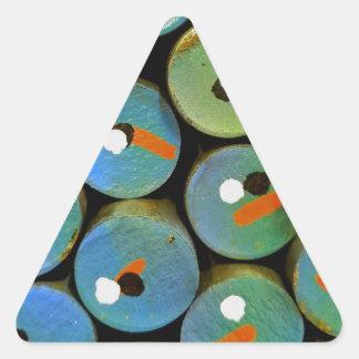 Adesivo Triangular Pavão industrial