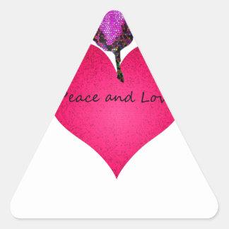 Adesivo Triangular paz e amor