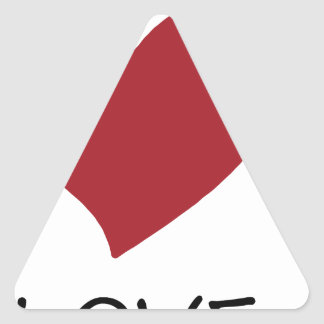 Adesivo Triangular paz love49
