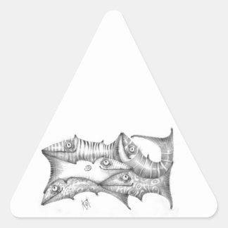 Adesivo Triangular Peixes