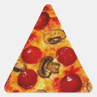 Adesivo Triangular Pepperoni e pizza do cogumelo