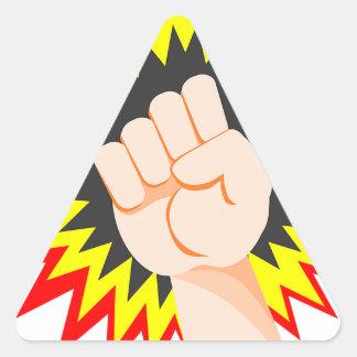 Adesivo Triangular Perfurador da energia do poder do braço da força