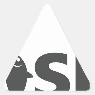 Adesivo Triangular Pesca