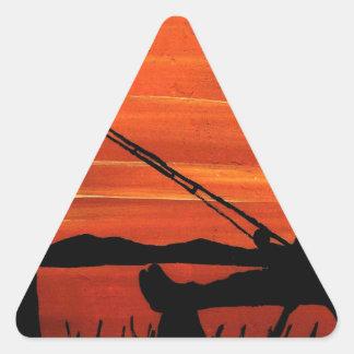 Adesivo Triangular Pesca ida