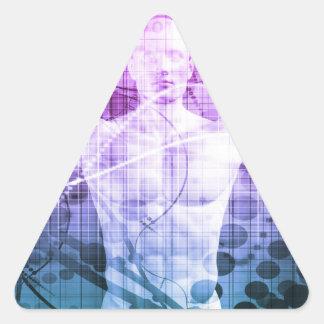Adesivo Triangular Pesquisa da ciência como um conceito para a
