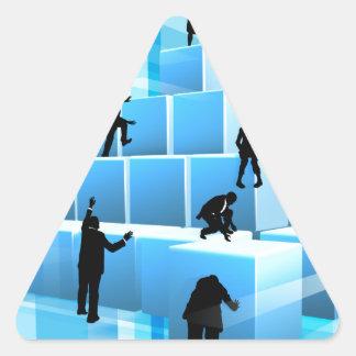 Adesivo Triangular Pessoas das silhuetas da equipe do negócio dos