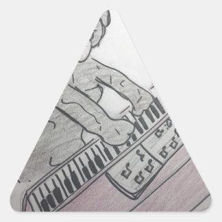 Adesivo Triangular piano do filhote de cachorro