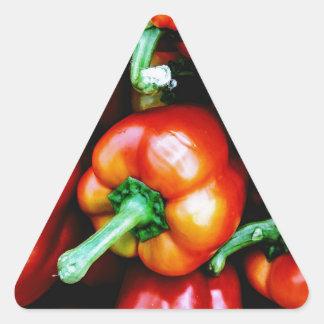 Adesivo Triangular Pimentas de Bell vermelhas