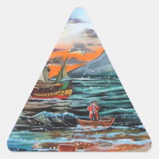 Adesivo Triangular Pintura de Bell do funileiro da angra do gancho de