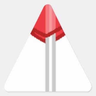 Adesivo Triangular pirulito vermelho do coração