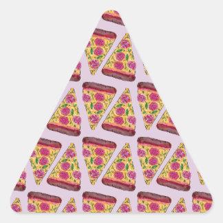 Adesivo Triangular pizza floral