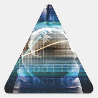 Adesivo Triangular Plataforma da segurança do controlo de acessos