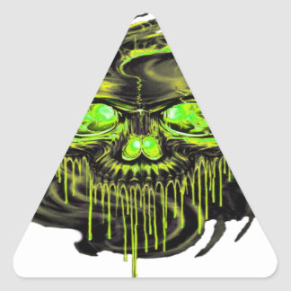 Adesivo Triangular Png lustroso dos esqueletos de Yella