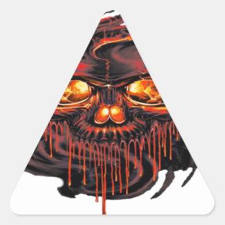 Adesivo Triangular Png vermelho sangrento dos esqueletos