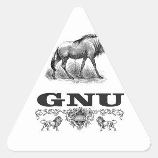 Adesivo Triangular poder do gnu