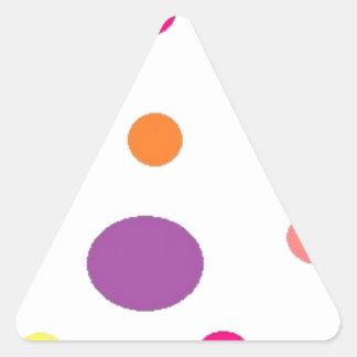 Adesivo Triangular polkadots