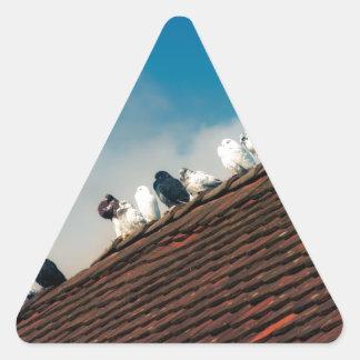Adesivo Triangular Pombos