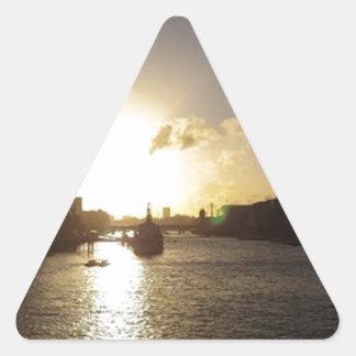 Adesivo Triangular Por do sol de Londres