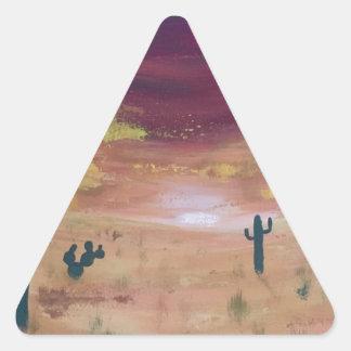 Adesivo Triangular Por do sol do deserto