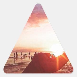 Adesivo Triangular Por do sol maravilhoso e incrível nas Filipinas