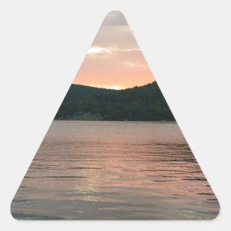 Adesivo Triangular Por do sol na água