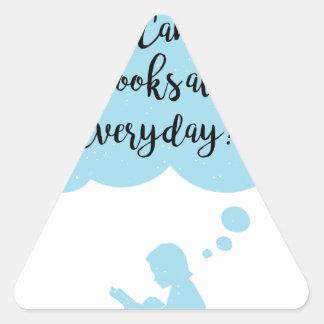 Adesivo Triangular Porque não possa eu apenas leio diário dos livros