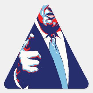 """Adesivo Triangular Poster 2017 da paródia do """"medo"""" de Donald Trump"""