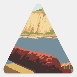 Adesivo Triangular Poster Puerto Rico das viagens vintage