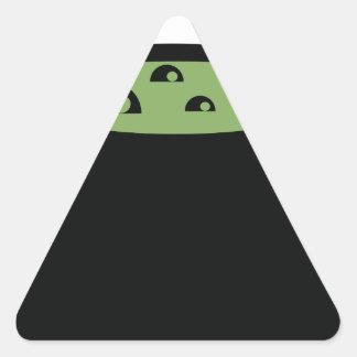 Adesivo Triangular Pote preto e verde do cozinhar