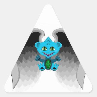 Adesivo Triangular Pouco dragão com asas