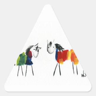 Adesivo Triangular Poucos pôneis do arco-íris
