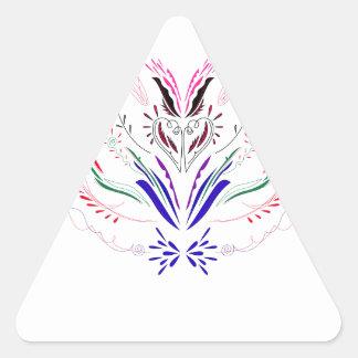 Adesivo Triangular Povos do branco dos elementos do design