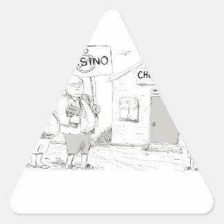 Adesivo Triangular Pregador samoano da igreja que protesta desenhos