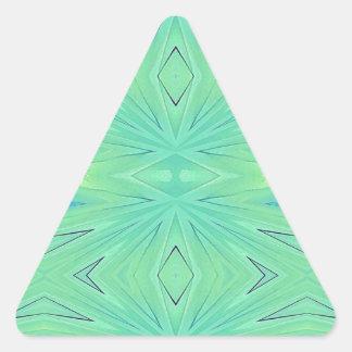 Adesivo Triangular Primavera Pastel do Aqua bonito do verde da