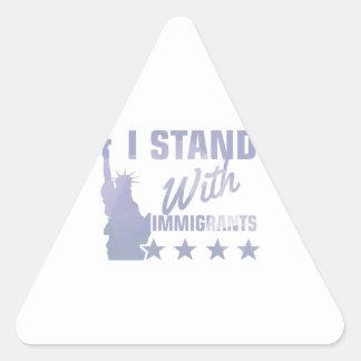 Adesivo Triangular Pro camisa da estátua da liberdade da imigração