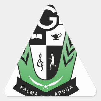 Adesivo Triangular Produtos da crista da reunião dos alunos de GGMSS
