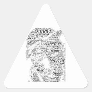 Adesivo Triangular Produtos do esboço dos grafites da palavra do