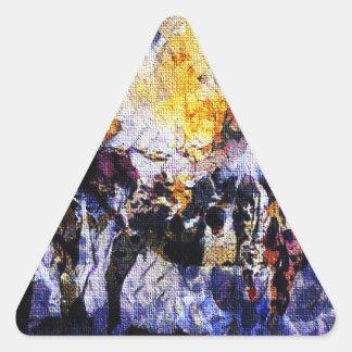 Adesivo Triangular Programa demonstrativo da leiteria