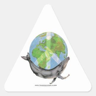 Adesivo Triangular Projeto da paz da baleia de Humpback
