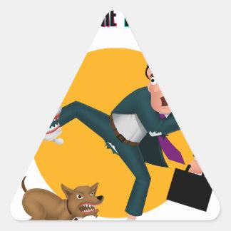 Adesivo Triangular Quem deixou os cães para fora!