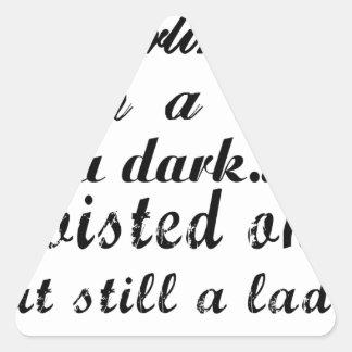 Adesivo Triangular querido eu sou uma senhora um torcida a escura