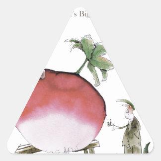 Adesivo Triangular Rabanete grande de Yorkshire do amor