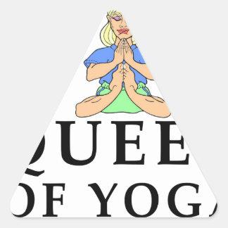 Adesivo Triangular rainha da ioga