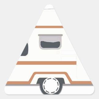 Adesivo Triangular Reboque de campista Van de acampamento